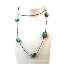 Venda Por Atacado moda turquesa colar para a mulher jóia da senhora