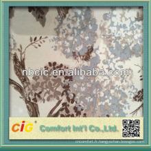Tissu de canapé d'impression de polyester fabriqué en Chine