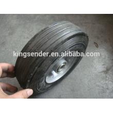 Roda de borracha semi-pneumática 8x2.5