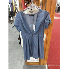 Мода леди сексуальное джинсовое платье