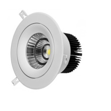 Éclairage intérieur à LED COB 10W avec boîtier blanc