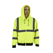 high visibility reflective safety hoodie sweatshirt