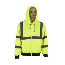 simple fleece hi vis sweatshirt with pockets