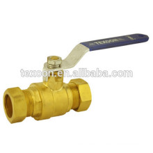 lead free brass ball valves with compression ends