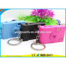 High Quality Novelty Design Camera Assorted Sound Activated LED Keychain