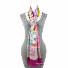 La plus nouvelle tendance à la mode 100% polyester soie feel square scarf