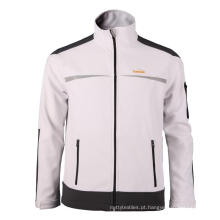 Branco com jaqueta Softshell cinza