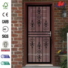 108 Series Black Hinge Left Flower Security Door