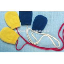 luvas de cashmere puras luvas de malha para crianças bebê