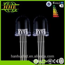 Le CE ROHS ronds brillants superbe 4-goupillent rgb ont mené la puce de diode 5mm 8mm 10mm