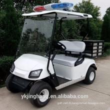 Chariot de golf de police de 2 sièges avec une boîte de chargement à l'arrière du siège à vendre