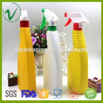 HDPE wholesale competitive price top quality OEM custom square plastic detergent container with trigger spray
