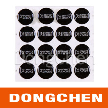 Custom Out Door Use Waterproof Anti-Yellowing 3m Dome Epoxy Sticker