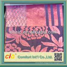 Cut Pile Polyester Sofa Fabric Textile