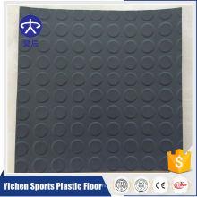Revêtement de sol commercial gris et argenté de PVC pour le centre commercial