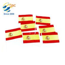 moins cher de polyester Espagne main drapeau International