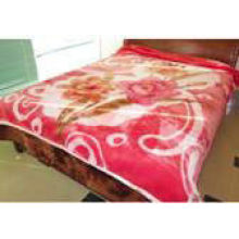 100% Polyester 2 Ply Mink Blanket Double Printed For Home , King Size Fleece Blankets