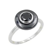 Silberne Schmucksachen, feine Schmucksachen, keramischer Schmucksache-Ring (R21111)