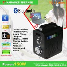Haut-parleur stéréo portatif à la mode de mini radio d'étape de la mini LED LED