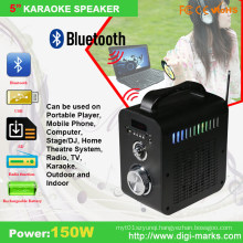 Fashionable Portable Wireless Mini LED Stage Stereo Radio Bluetooth Speaker