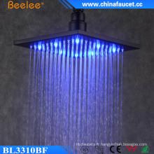 Salle de bains luxueuse douche de tête de la lumière économiseuse d'eau de 10 pouces LED