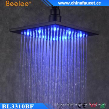 Cuarto de baño lujoso de 10 pulgadas de ahorro de agua LED Cabeza de ducha