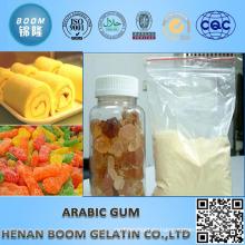 Polvo amarillo de goma arábiga en la industria alimenticia
