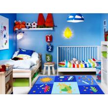 Tapete de sala de crianças de padrão de espaçonave