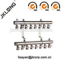 F616 Brass Manifold with Ball Valves for Heating system