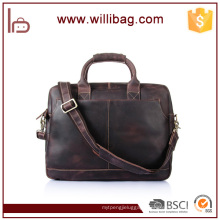 Genuine Leather Fashion Business Briefcase For Men Laptop Briefcase