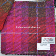 Pink Plaid autorisierte Harris Tweed Stoff 100% Schurwolle 150cm Breite