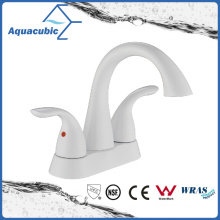 Modern Wash Basin White Lavatory Faucet (AF0105-6W)