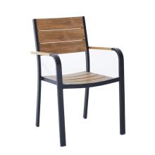 DECOR wholesale aluminium PS wood plastic wood outdoor garden chair