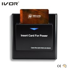 Energy Saver Key Card Power Switch pour n'importe quelle carte en plastique Frame Black Color (SK-ES2300N-B)