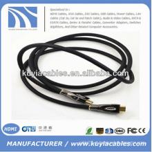 Cabo HDMI com conector de conector de metal Ethernet Suporta 3D