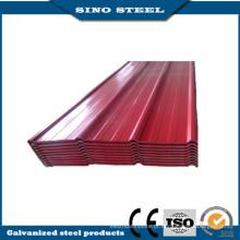 Chapa de aço ondulada galvanizada Prepainted com alta qualidade