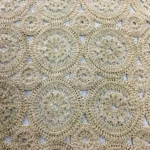 Tela de bordado de encaje químico de algodón de nueva tecnología