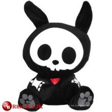 Diseño personalizado de OEM conejo de peluche negro juguetes