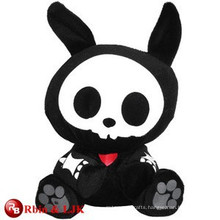 customized OEM design black rabbit plush toys