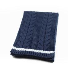 Зима унисекс теплый Цвет комбинированный кабель тяжелый вязаный шарф (SK167)
