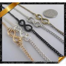 Pulseras de la cadena de la joyería con encantos del infinito (fb058)