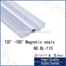 Vidro de plástico de porta de chuveiro de grau 135 graus -180