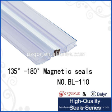 glass shower door plastic for 135 degree -180 degree