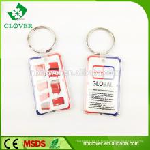 Promoção de vendas dom 1 LED plástico levou keychain lanterna