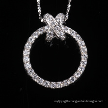 Bling Brilliant Round Fashion Hallow Cubic Zirconia Silver Jewelry