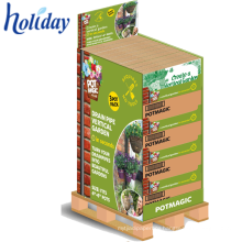 1/4 pallet display for daily Products,Supermarket Promotional Cardboard Pallet Display Rack