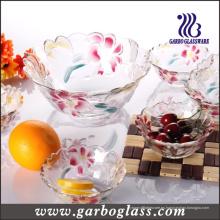 Cuenco de frutas de vidrio con diseño de lirio (GB1629LB / PDS)
