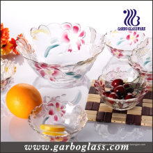 Стеклянная чаша для фруктов с дизайном лилии (GB1629LB / PDS)