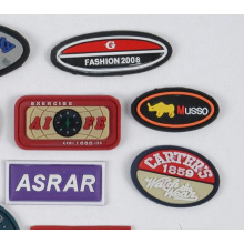 New Design Custom 3D Rubber Patches for Coat Wholesale