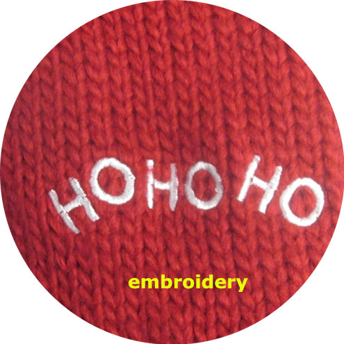 100% Acryilc Iceland Red Knit Santa Gloves